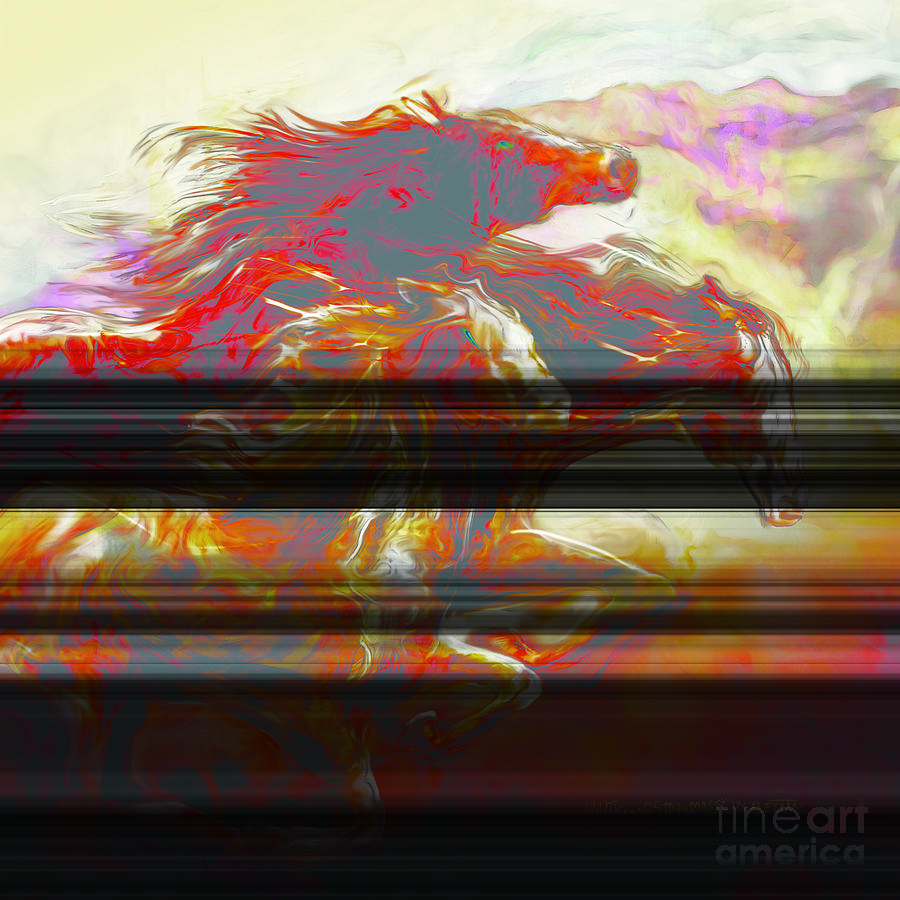 Horse Mixed Media - Wild Things by Mike Massengale