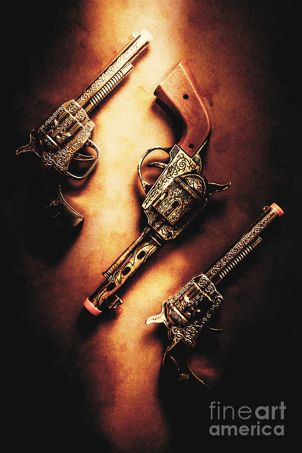 Toy Photograph - Wild West Cap Guns by Jorgo Photography - Wall Art Gallery