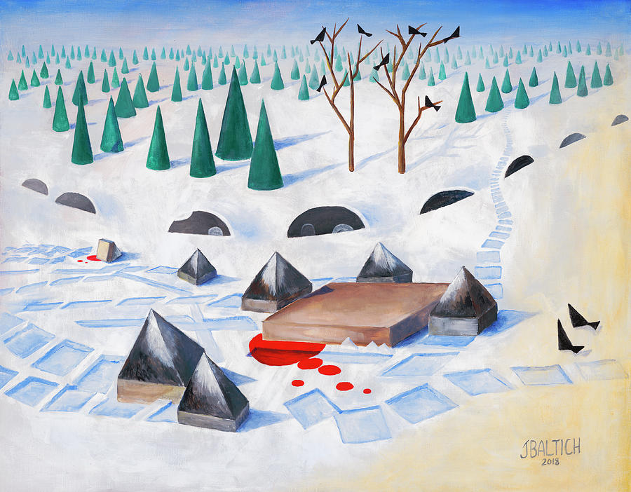 Wolves Painting - Wilderness Perception by Joe Baltich
