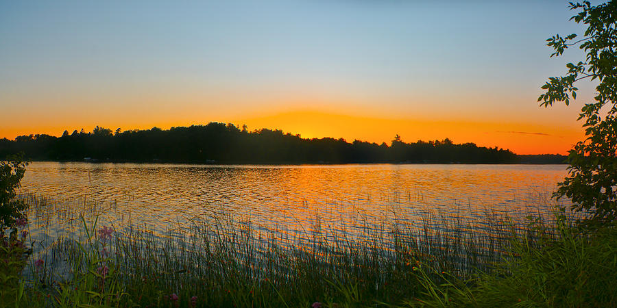 Sunset Photograph - Wilderness Point Sunset Panorama by Gary Eason