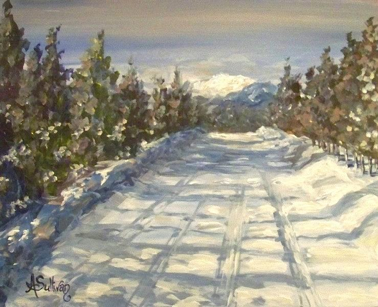 Landscape Painting - Wilderness Road by Angela Sullivan