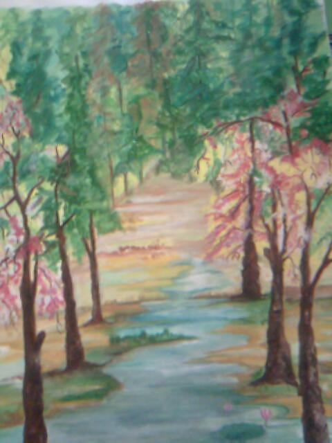 Landscape Painting - Wilderness by Seema Sharma