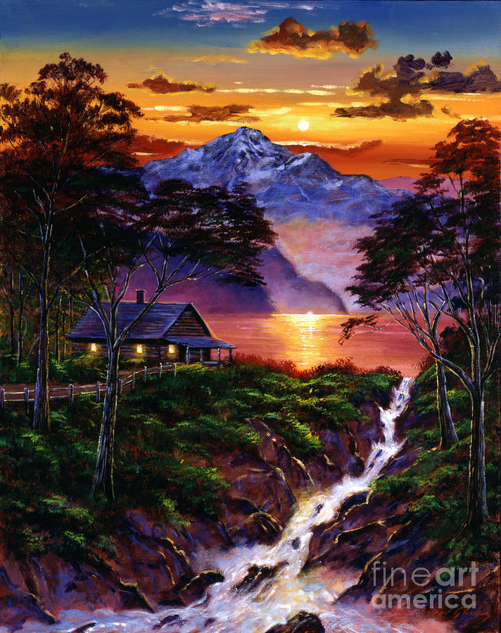 Landscape Painting - Wilderness Spirit by David Lloyd Glover