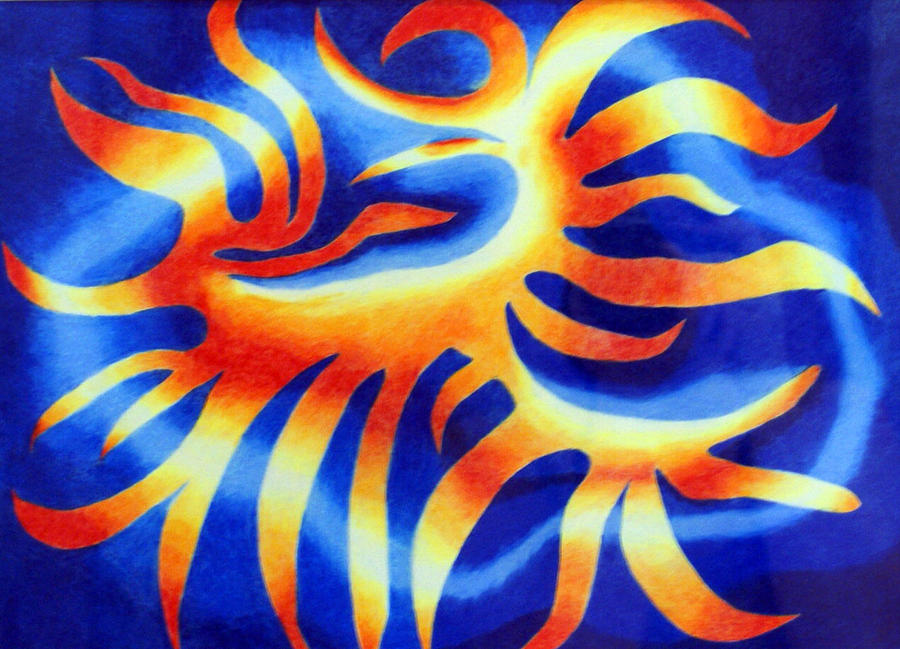 Fire Drawing - Wildfire by Tina Storey