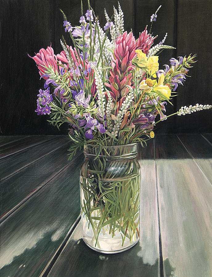 Wildflower Bouquet Three Painting by Rebecca Zook