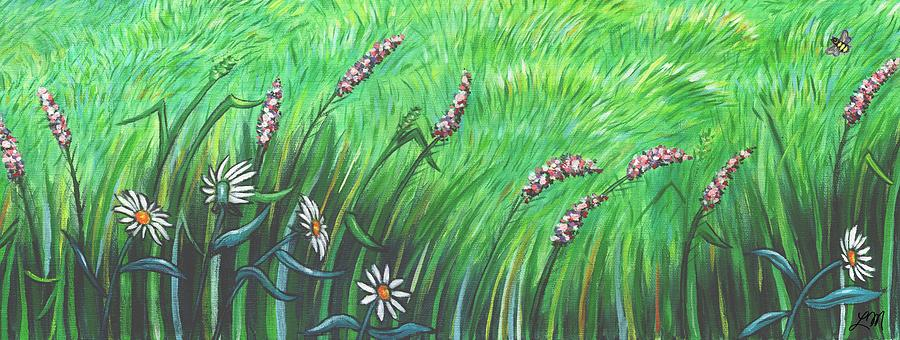 Flowers Painting - Wildflower Garden by Linda Mears
