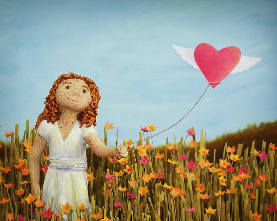Wildflowers Mixed Media - Wildflower Girl by Jennifer Montgomery