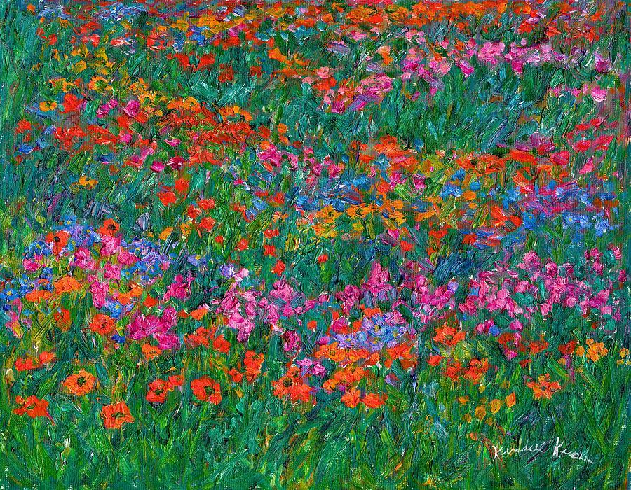Wildflowers Painting - Wildflower Magic by Kendall Kessler