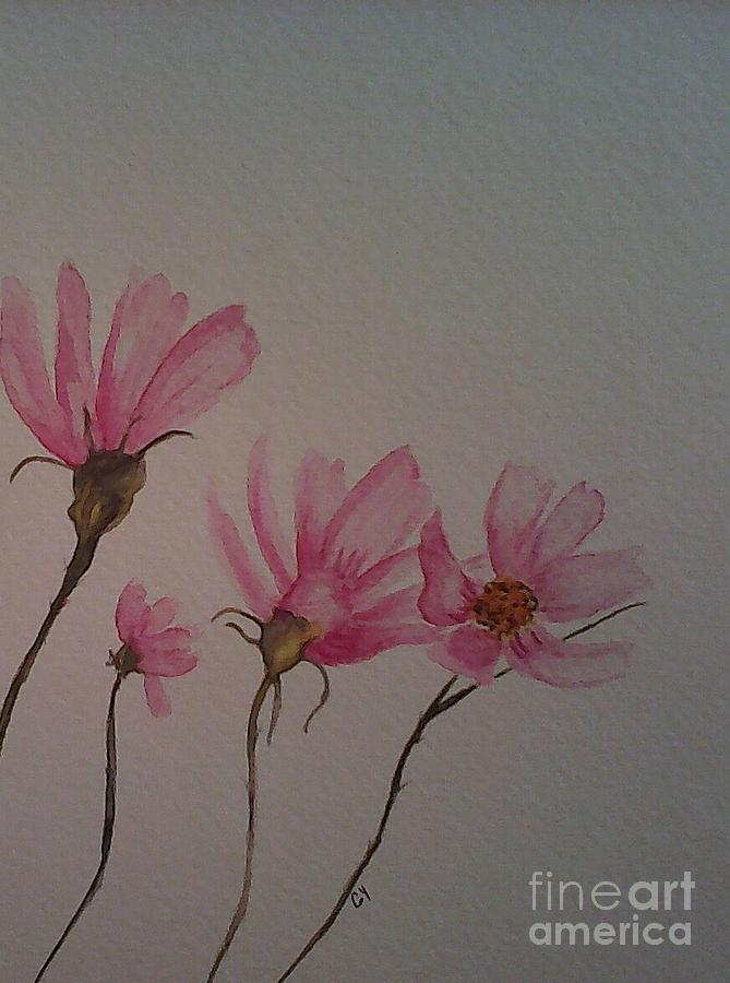 Wildflower Painting - Wildflower Pink by Ginny Youngblood
