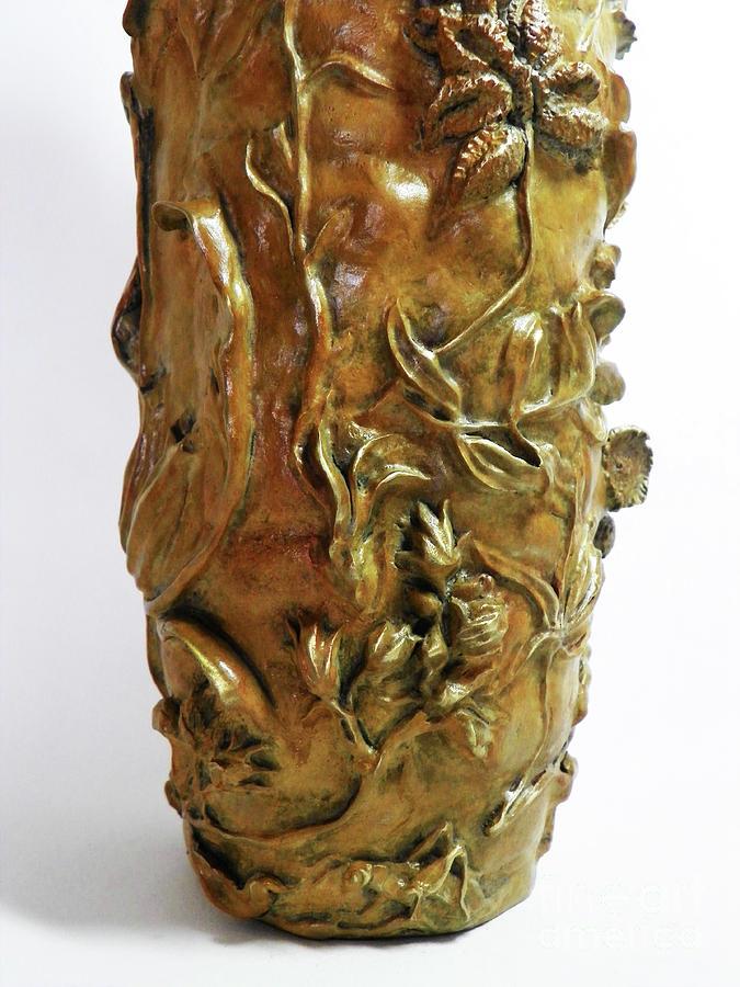 Wildflower Promise - Bronze Vase - detail 2 by Dawn Senior-Trask
