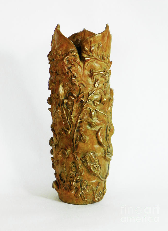Wildflower Promise - Bronze Vase, view 2 by Dawn Senior-Trask