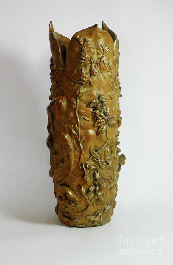 Wildflower Promise - Bronze Vase - View 3 by Dawn Senior-Trask