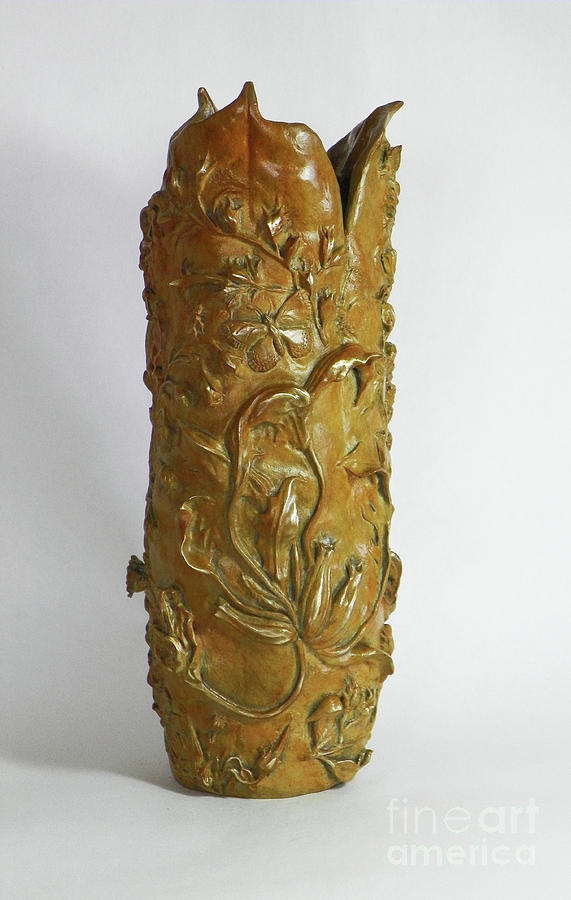 Wildflower Promise - Bronze Vase by Dawn Senior-Trask
