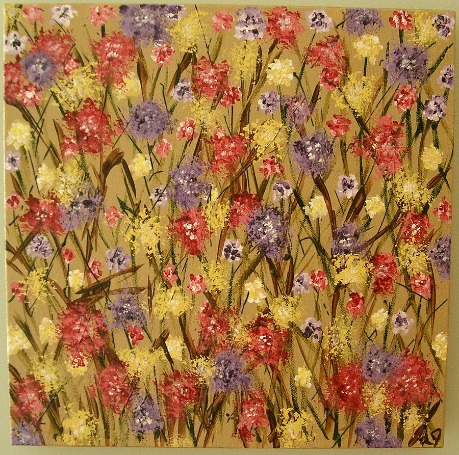 Wildflower Series I Painting by Rita  DiCello