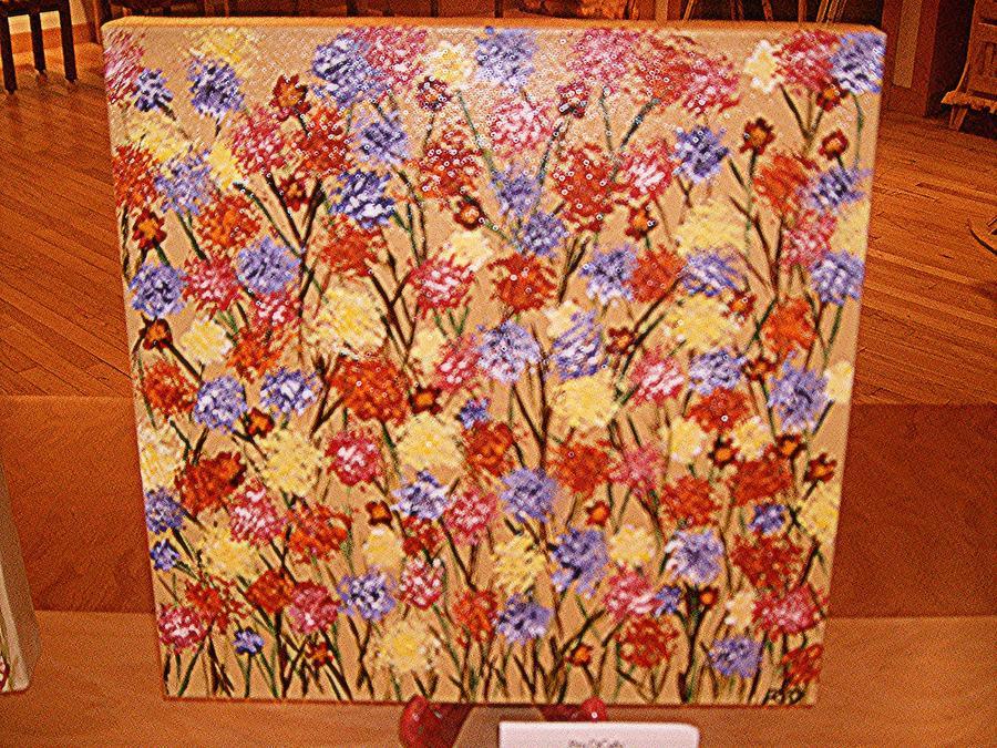 wildflower series III Painting by Rita  DiCello