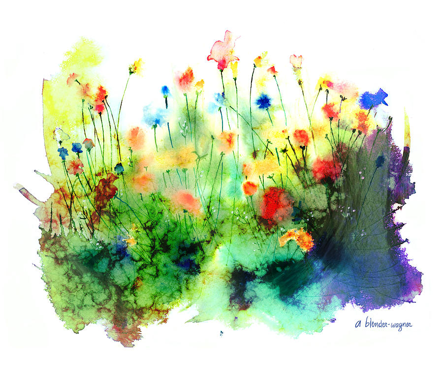 Flowers Painting - Wildflowers by Arline Wagner
