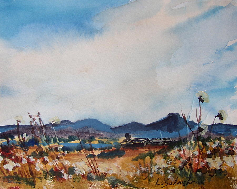 New Mexico Painting - Wildflowers at the Black Pedernal by Laurie Salmela