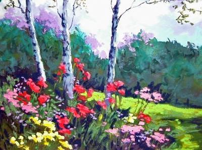 Wildflowers Painting by Barbara Elmslie
