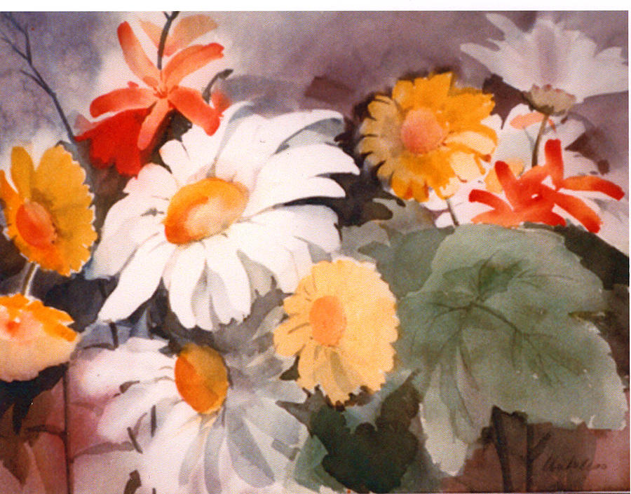 Flowers Painting - Wildflowers by Florence Unkeless