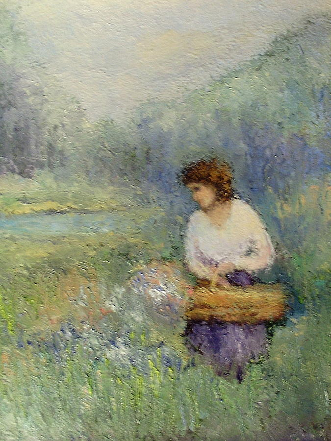 Woman Painting - Wildflowers by Gail Kirtz