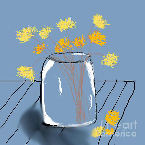 Wildflowers in a vase by Joyce A Rogers