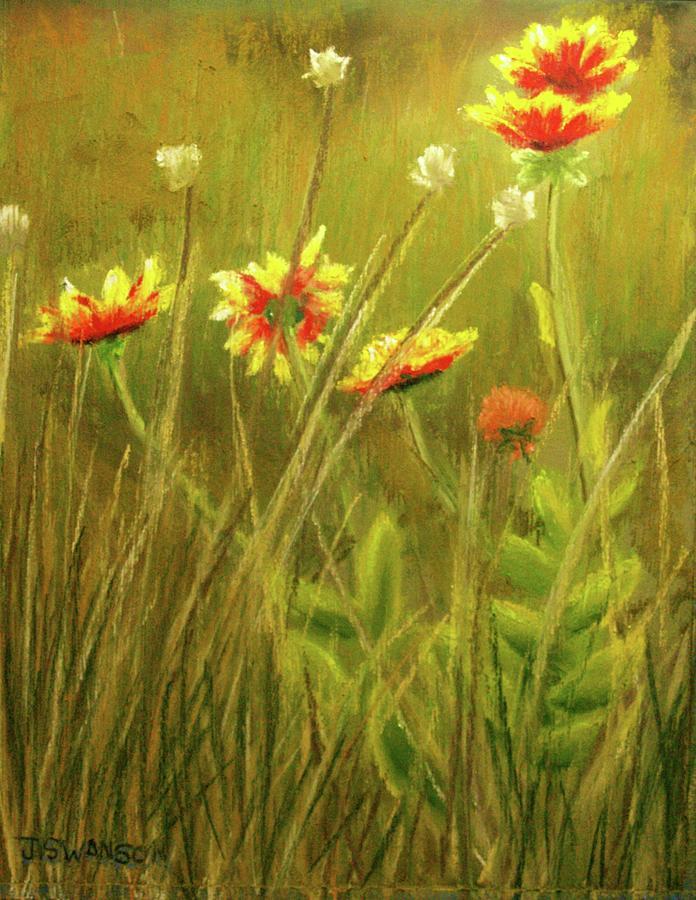 Wildflower Pastel - Wildflowers by Joan Swanson