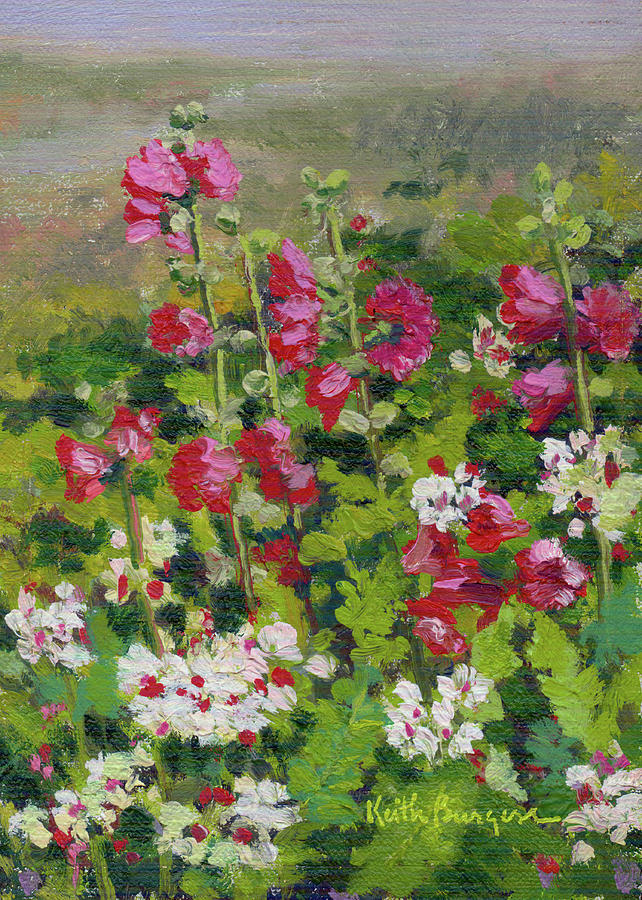 Impressionism Painting - Wildflowers by Keith Burgess