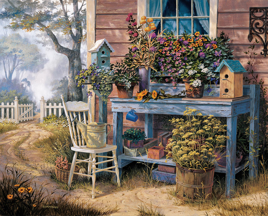 Michael Humphries Painting - Wildflowers by Michael Humphries