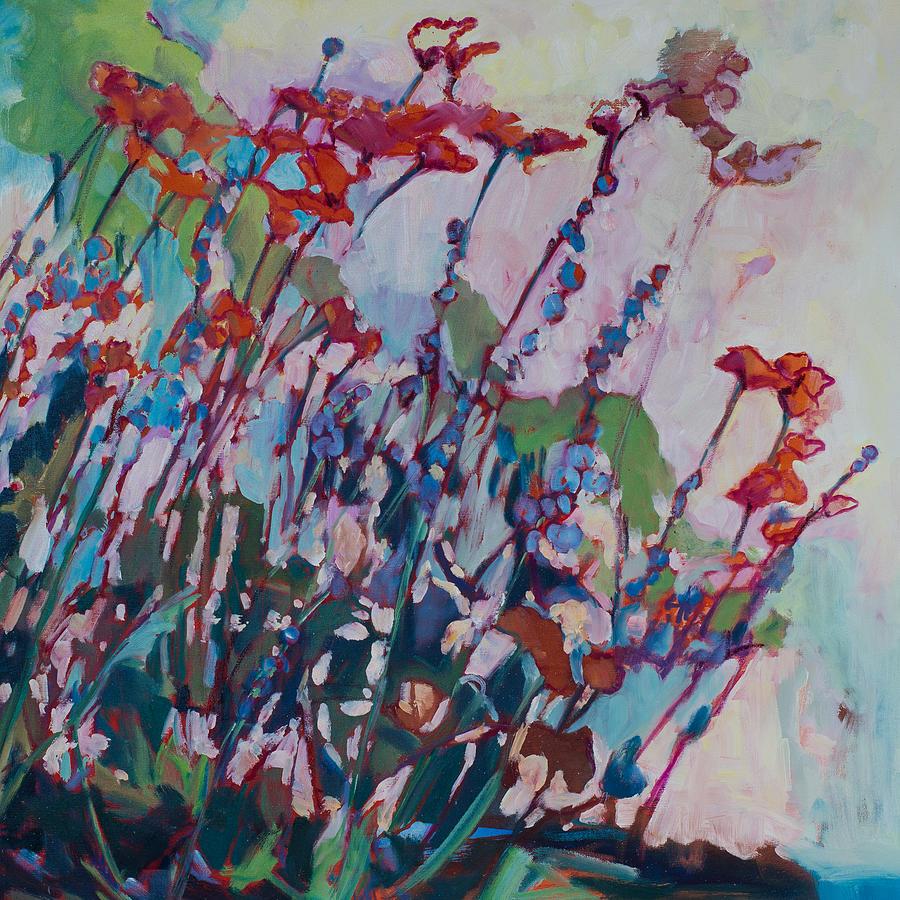 Wildflowers Painting - Wildflowers by Susan Scoggins
