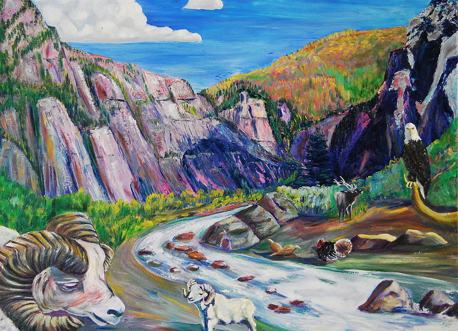Wildlife Painting - Wildlife On The Colorado River by George Chacon