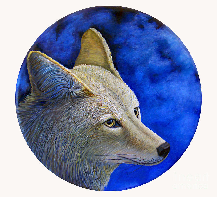 Coyote Painting - Wiley Coyote by Brian  Commerford