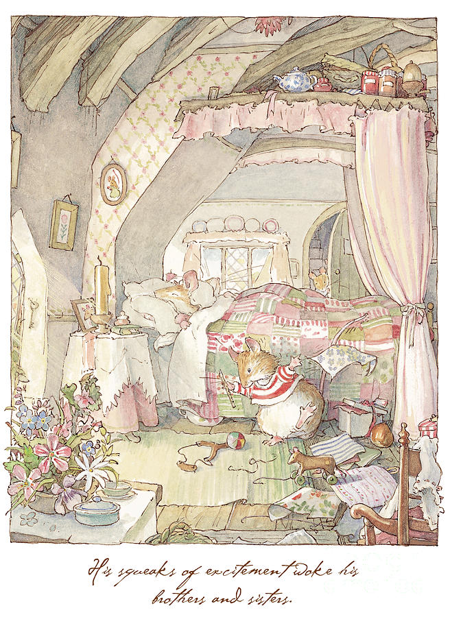 Brambly Hedge Drawing - Wilfreds birthday morning by Brambly Hedge