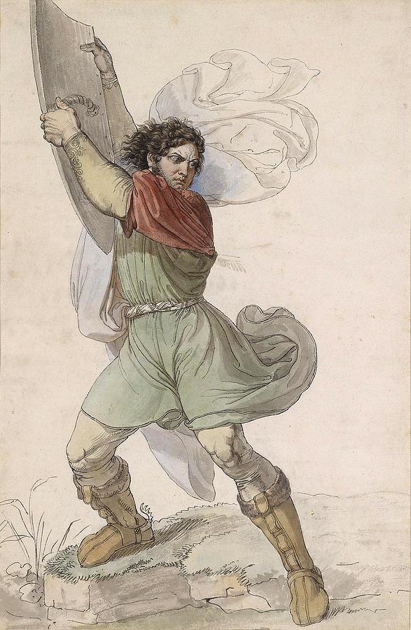 Wilhelm Tell Drawing - Wilhelm Tell by Moritz Michael Daffinger