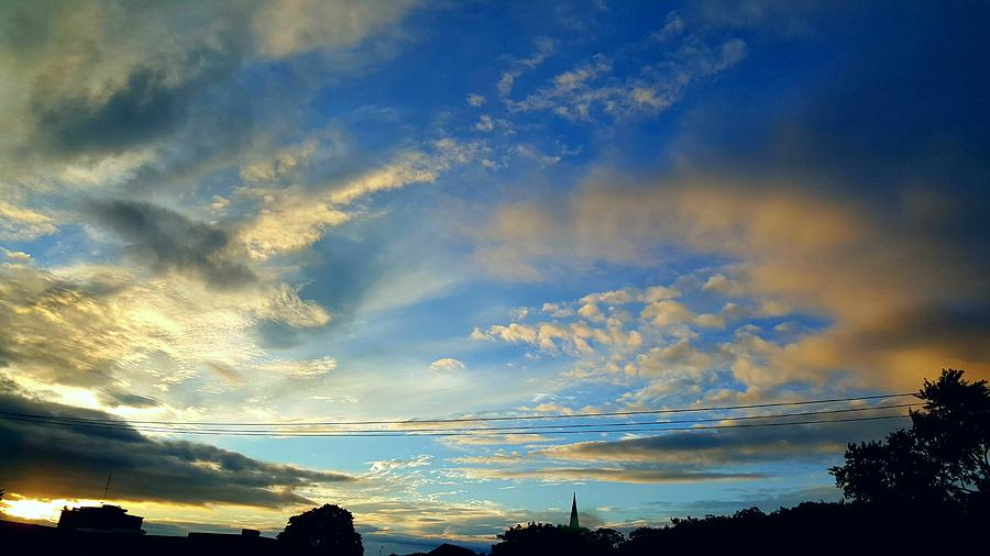 Clouds Photograph - Wilkes Barre Sunset Two by Elizabeth La Caille