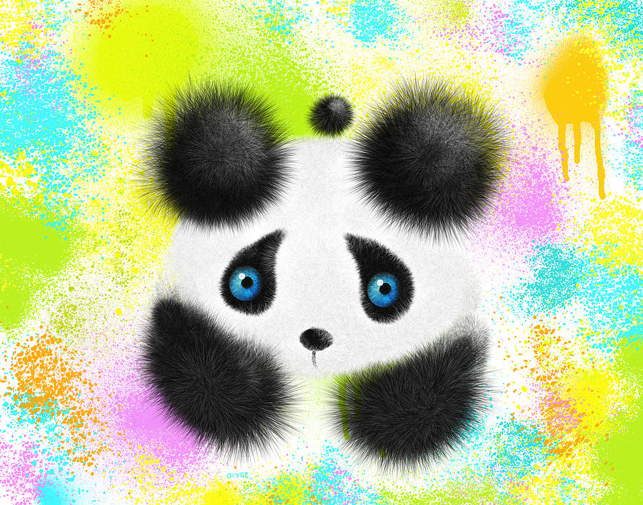 Panda Painting - Will I Fit In by Oiyee At Oystudio