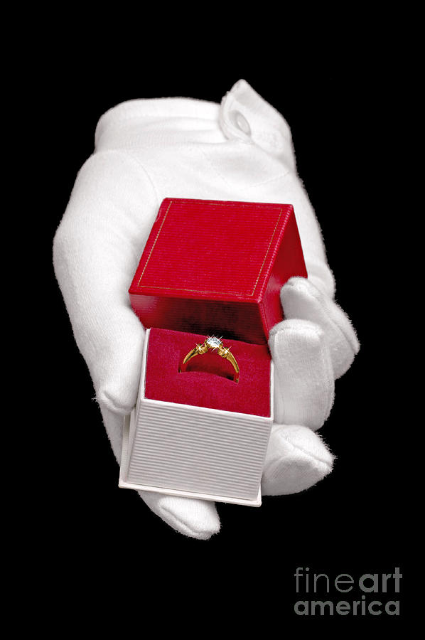 Diamond Ring Photograph - Will You Marry Me by Richard Thomas