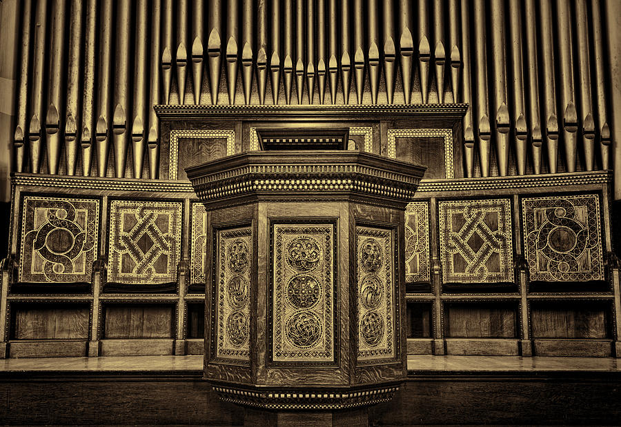 Tiffany Photograph - Willard Memorial Chapel Pulpit And Organ #2 by Stephen Stookey