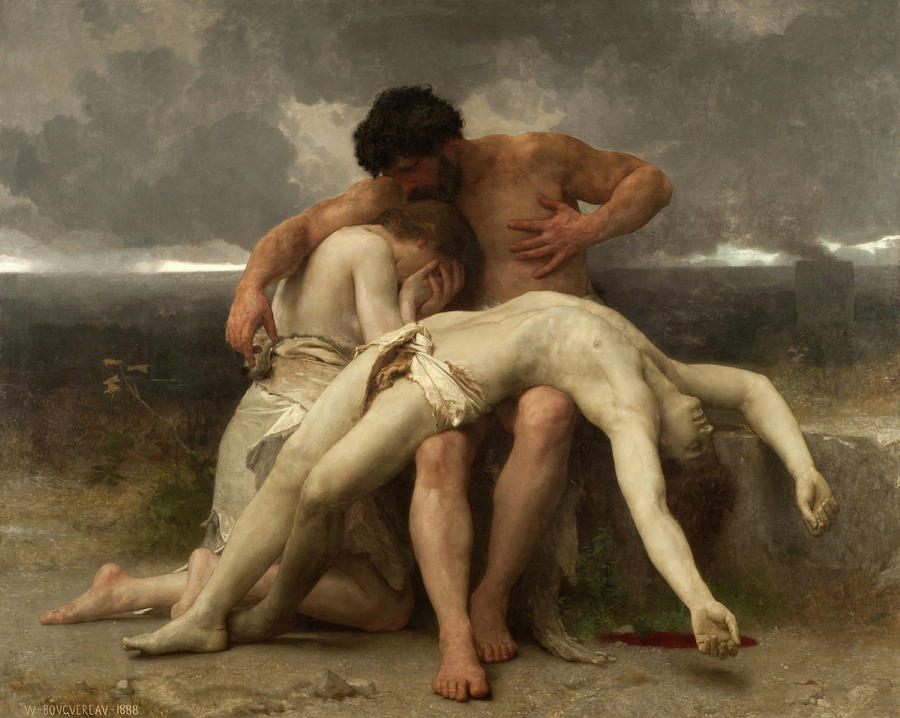 William-adolphe Bouguereau Painting - The First Mourning by William-Adolphe Bouguereau