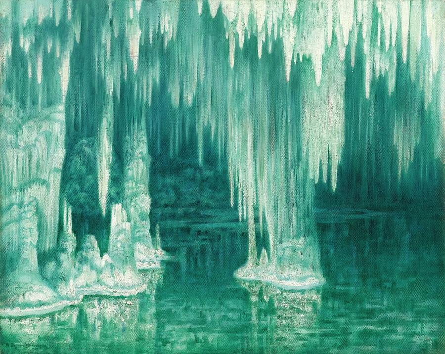 Winter Painting - William Degouve de Nuncques 1867 - 1935 BELGIAN LA GROTTE DU DRAC, MANACOR by William Degouve de Nuncques
