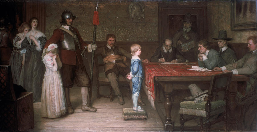 Man Painting - William Frederick Yeames - And When Did You Last See Your Father 1878 by William Frederick Yeames