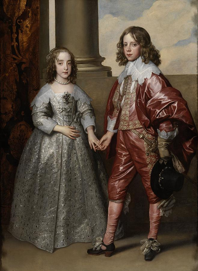 Anthony Van Dyck Painting - William II, Prince Of Orange, And His Bride, Mary Stuart by Anthony van Dyck