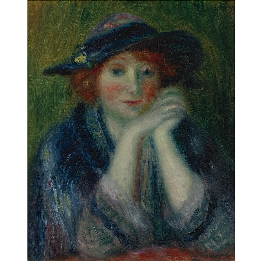 Girl Painting - William J. Glackens 1870-1938 1870 - 1938 Portrait Study Of An Artists Model by William J Glackens