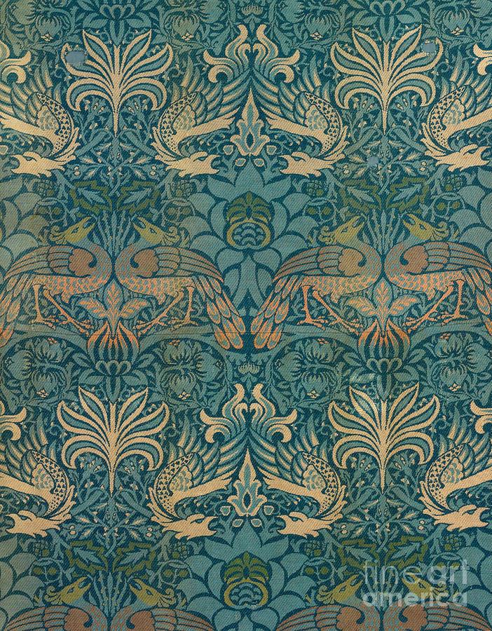 William Morris Peacock And Dragon Textile Design