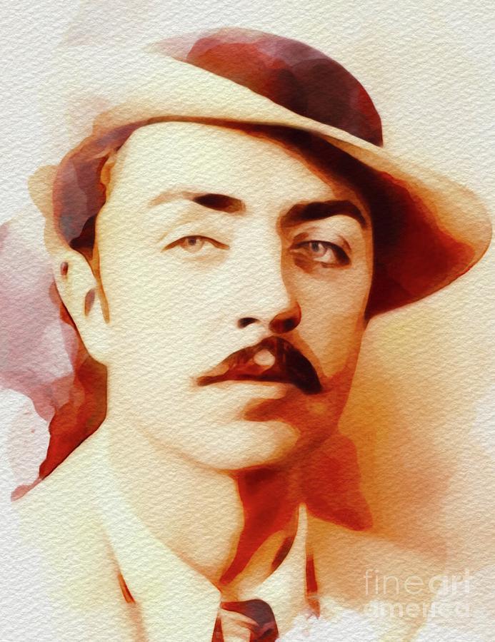 William Painting - William Powell, Vintage Movie Star by John Springfield