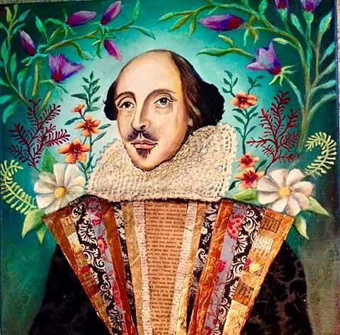Portrait Painting - William Shakespeare by Amy Lindemann