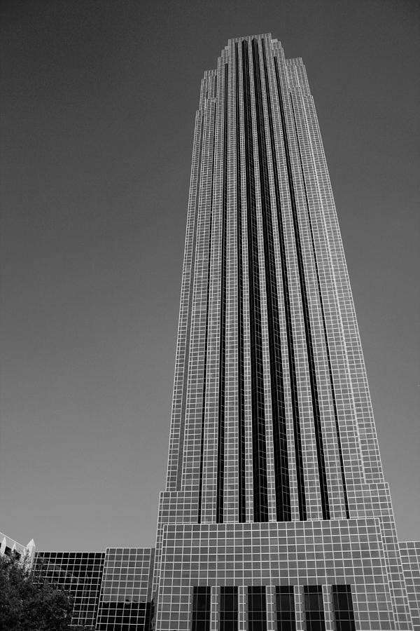 WIlliams Tower Houston in Black and White by Angela Rath