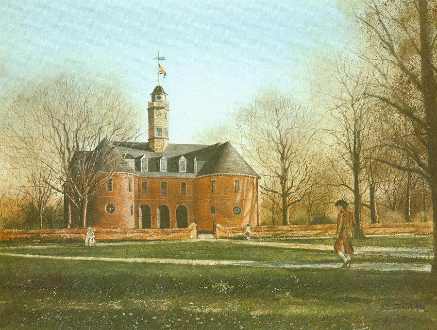 Colonial Williamsburg Painting - Williamsburg Capital by Charles Roy Smith
