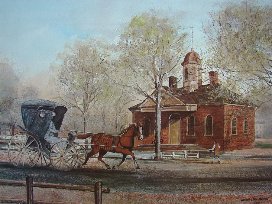 Williamsburg Painting - Williamsburg Courthouse by Charles Roy Smith