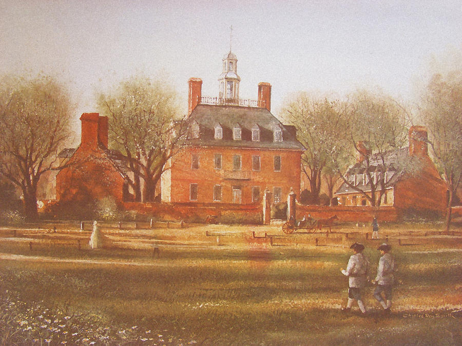 Williamsburg Governors Palace Painting By Charles Roy Smith