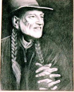 Willie Nelson Drawing - Willie by Janet Gioffre Harrington